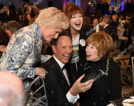 Glenn Close, Richard E. Grant, Shirley MacLaine, Frances Fisher. Glenn Close, from left, Richard E. Grant, Shirley MacLaine and Frances Fisher attend AARP The Magazine's 18th Annual Movies For Grownups Awards at Beverly Wilshire Hotel, in Beverly Hills, Calif