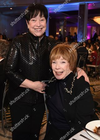 Kathy Bates, Shirley MacLaine. Kathy Bates, left, and Shirley MacLaine attend AARP The Magazine's 18th Annual Movies For Grownups Awards at Beverly Wilshire Hotel, in Beverly Hills, Calif