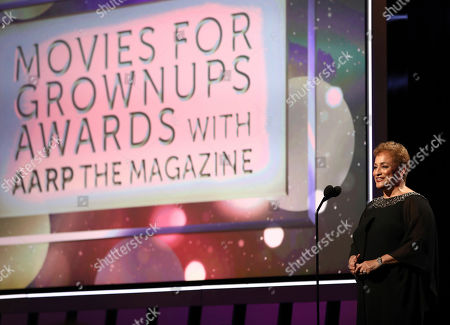 AARP CEO Jo Ann Jenkins speaks at AARP The Magazine's 18th Annual Movies For Grownups Awards at Beverly Wilshire Hotel, in Beverly Hills, Calif