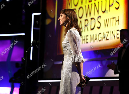 Dolly Wells speaks at AARP The Magazine's 18th Annual Movies For Grownups Awards at Beverly Wilshire Hotel, in Beverly Hills, Calif