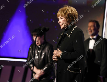 Shirley MacLaine accepts the Career Achievement Award at AARP The Magazine's 18th Annual Movies For Grownups Awards at Beverly Wilshire Hotel, in Beverly Hills, Calif