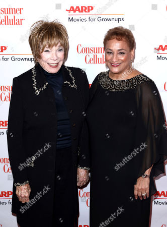 Shirley MacLaine, Jo Ann Jenkins. Shirley MacLaine, left, and AARP CEO Jo Ann Jenkins attend AARP The Magazine's 18th Annual Movies For Grownups Awards at Beverly Wilshire Hotel, in Beverly Hills, Calif