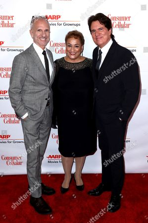 John DeLuca, Jo Ann Jenkins, Rob Marshall. John DeLuca, from left, AARP CEO Jo Ann Jenkins, and Rob Marshall attend AARP The Magazine's 18th Annual Movies For Grownups Awards at Beverly Wilshire Hotel, in Beverly Hills, Calif
