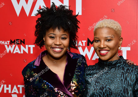 "Melissa Braxton, Dominique Fishback. Dominique Fishback, left, and Melissa Braxton attend a screening of ""What Men Want"" at the Crosby Street Hotel, in New York"