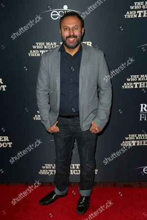 "Rizwan Manji arrives at the LA Premiere of ""The Man Who Killed Hitler and Then The Bigfoot"" at the ArcLight Hollywood, in Los Angeles"