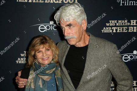 """Katharine Ross, Sam Elliott. Katharine Ross, left,and Sam Elliott arrive at the LA Premiere of """"The Man Who Killed Hitler and Then The Bigfoot"""" at the ArcLight Hollywood, in Los Angeles"""