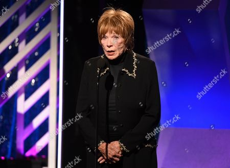 Shirley MacLaine accepts the Career Achievement award during the 18th Annual Movies For Grownups Awards at Beverly Wilshire Hotel, in Beverly Hills, Calif