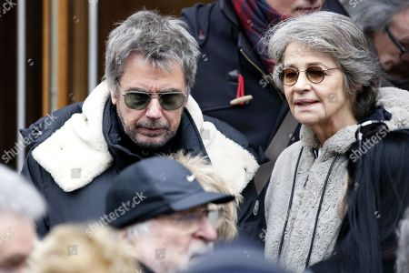 Stock Image of Jean-Michel Jarre and Charlotte Rampling