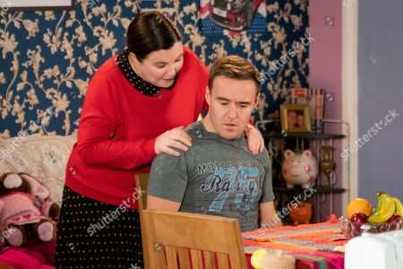 Ep 9697 Monday 18th February 2019 - 2nd Ep When Mary Taylor, as played by Patti Clare, offers to give Tyrone Dobbs, as played by Alan Halsall, a massage he decides to broach the subject of the Valentine's card and tells her they can only be friends. How will Mary react?