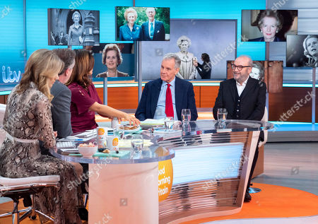 Charlotte Hawkins, Piers Morgan and Susanna Reid with Jonathan Aitken and George Galloway