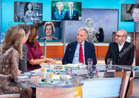 Stock Image of Charlotte Hawkins, Piers Morgan and Susanna Reid with Jonathan Aitken and George Galloway