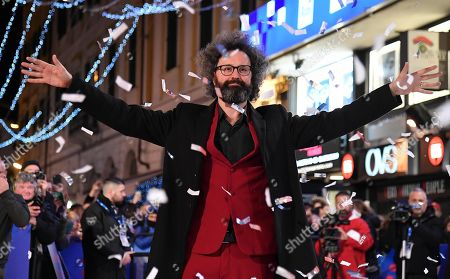 Simone Cristicchi arrives on the red carpet for the 69th Sanremo Italian Song Festival outside the Ariston theatre in Sanremo, Italy, 04 February 2019. The festival will run from 05 to 09 February.
