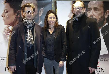 Stock Picture of Antoine Raimbault, Monika Choynowski and Olivier Gourmet