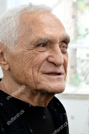 The artist John Giorno attends at the exhibition 'You got to burn to shine'