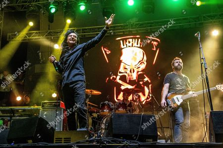 Joey Belladonna of The Stowaways performs on board the Carnival Valor during day 3 of the ShipRocked cruise on