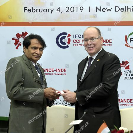 Union Commerce and Industry Minister Suresh Prabhu and King Albert II