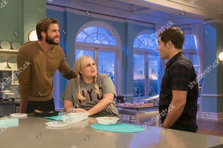 Liam Hemsworth as Blake, Rebel Wilson as Natalie and Adam Devine as Josh