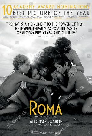 Stock Picture of Roma (2018) Poster Art. Marco Graf as Pepe, Daniela Demesa as Sofi, Yalitza Aparicio as Cleo, Marina de Tavira as Senora Sofia, Diego Cortina Autrey as Tono and Carlos Peralta as Paco