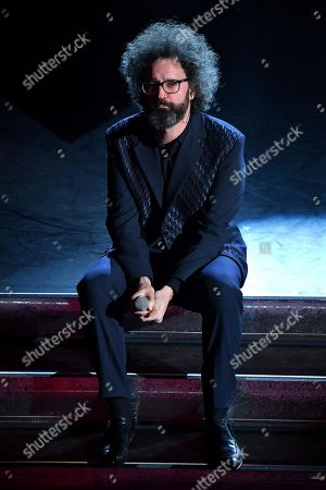 Simone Cristicchi performs on stage at the Ariston theatre during the 69th Sanremo Italian Song Festival, Sanremo, Italy, 05 February 2019. The festival runs from 05 to 09 February.