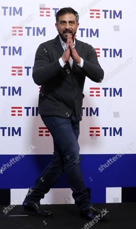 TV presenter Simone Montedoro poses before the press conference of the 69th Sanremo Italian Song Festival, in Sanremo, Italy, 05 February 2019. The Festival runs from 05 to 09 February.