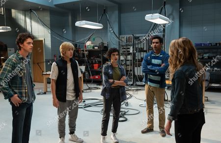 Israel Broussard as Carter Davis, Phi Vu as Ryan Phan, Sarah Yarkin as Dre Morgan and Suraj Sharma as Samar Ghosh