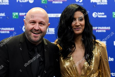 Stock Picture of Stephan Streker and Actress Aurora Marion