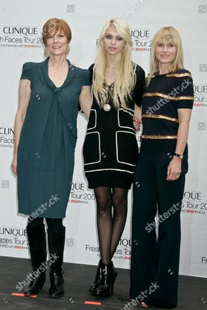 Lynne Greene (Pres. of Clinique), Taylor Momsen and Amy Astley