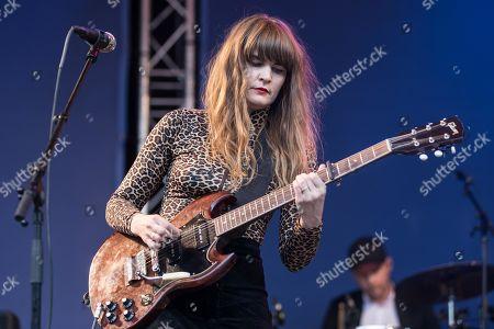 The Swedish singer Jennie Abrahamson live at the 25th Blue Balls Festival in Lucerne, Switzerland