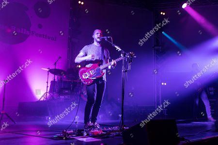 The British band Wild Beasts with singer Hayden Thorpe live at the 25th Blue Balls Festival in Lucerne, Switzerland Hayden Thorpe, vocals Ben Little, guitar Tom Fleming, bass Chris Talbot, drums