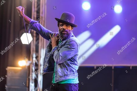 Stock Photo of The American soul singer and guitarist Cody Chesnutt live at the 25th Blue Balls Festival in Lucerne, Switzerland