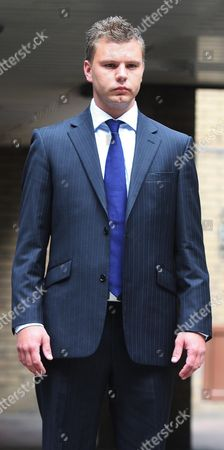 Editorial image of PC Malcolm Searles leaving Southwark Crown court, London, Britain  - 22 Sep 2009