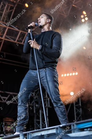 The German pop musician Andreas Bourani live at the 27th Heitere Open Air in Zofingen, Aargau, Switzerland
