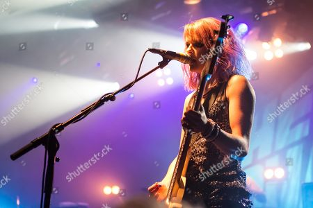 Stock Picture of Charlotte Cooper from the British indie rock band The Subways live at the Schueuer Lucerne, Switzerland