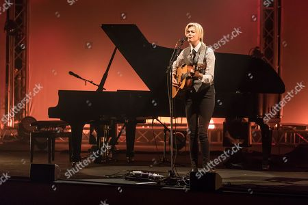 Stock Picture of Swedish singer-songwriter Anna Ternheim live at the 26th Blue Balls Festival in Lucerne, Switzerland