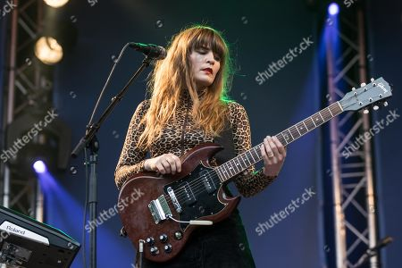 Stock Image of The Swedish singer Jennie Abrahamson live at the 25th Blue Balls Festival in Lucerne, Switzerland