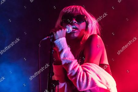 Stock Photo of US-American rapper Shayna McHayle alias Junglepussy live at Club Suedpol, Kriens, Luzern, Switzerland