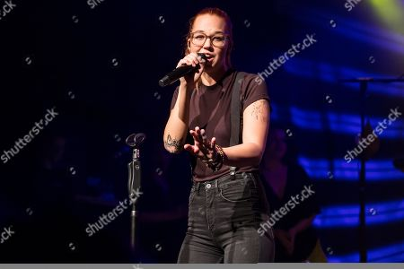 The Swiss singer and songwriter Stefanie Heinzmann live at the Schueuer Lucerne, Switzerland