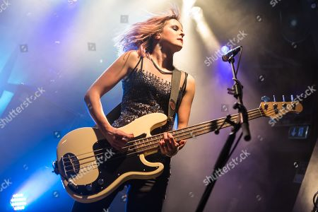 Charlotte Cooper from the British indie rock band The Subways live at the Schueuer Lucerne, Switzerland