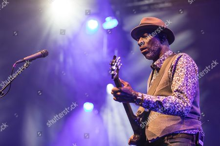 The American blues musicians Taj Mahal and Keb' Mo' live at the Blue Balls Festival in Lucerne, Switzerland