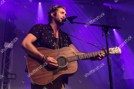 Stock Image of The South African singer-songwriter and environmental activist Jeremy Loops live at the 25th Blue Balls Festival in Lucerne, Switzerland