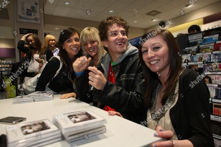 Editorial image of Tommy Reilly at an in-store signing session in HMV, Stirling, Britain - 23 Sep 2009