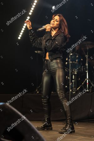 Stock Image of The German pop singer Vanessa Mai live at Schlager Nacht, Lucerne, Switzerland