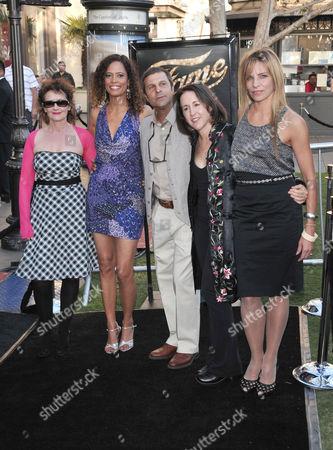 Original 'Fame' TV cast members including  Erica Gimpel, Carlo Imperato, Valerie Landsburg and Lori Singer