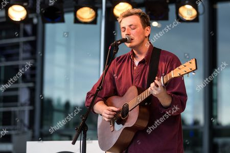 Stock Photo of The British musician Lewis Watson live at the 25th Blue alls Festival in Lucerne, Switzerland