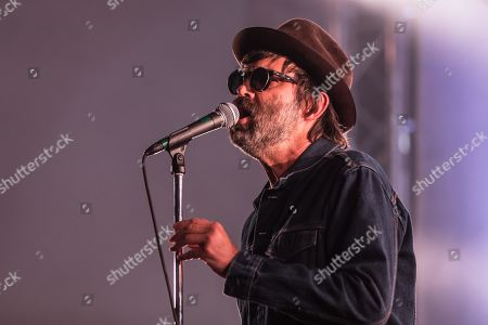 Stock Picture of The American rock band Eels with singer Mark Oliver Everett live at the 26th Blue Balls Festival in Lucerne, Switzerland