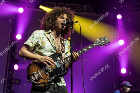 Andrew Stockdale, vocals and guitar, from Australian rock band Wolfmother live at the 26th Blue Balls Festival in Lucerne, Switzerland