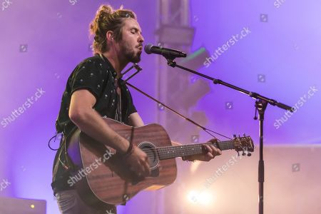 Stock Photo of The South African singer-songwriter and environmental activist Jeremy Loops live at the 25th Blue Balls Festival in Lucerne, Switzerland