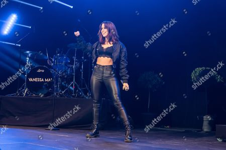 Stock Picture of The German pop singer Vanessa Mai live at Schlager Nacht, Lucerne, Switzerland