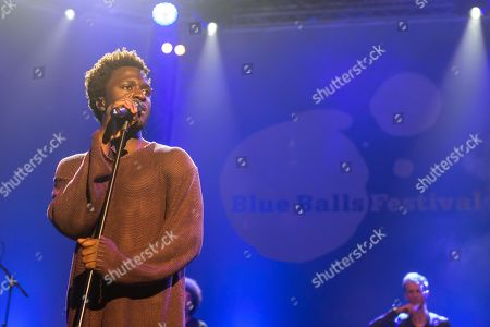 Stock Picture of The British soul singer Kwabs live at the Blue Balls Festival Lucerne, Switzerland