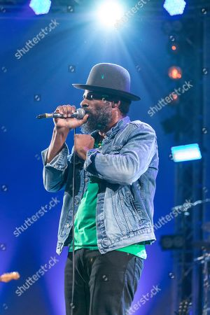 Stock Picture of The American soul singer and guitarist Cody Chesnutt live at the 25th Blue Balls Festival in Lucerne, Switzerland